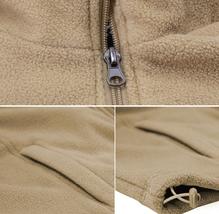 Men's Lightweight Warm Polar Fleece Jacket Full Zip-Up Collared Sweater Vest image 13