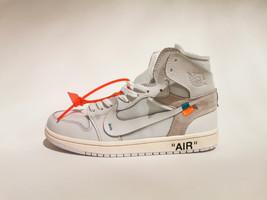 Off-White X Nike Air Jordan 1 Retro High- Men's size 10.5- White - $149.99