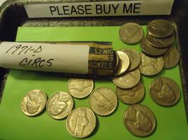 1971-D Jefferson Nickel Circs Roll >> C/S & H - $4.46