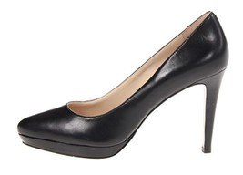 Women's Shoes NIne West BEAUTIE Platform Pumps High Heels Leather Black ... - $53.45