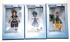 x3 Disney Kingdom Hearts Figures Sora, Goofy, Timeless RIver Sora Diamon... - $40.00