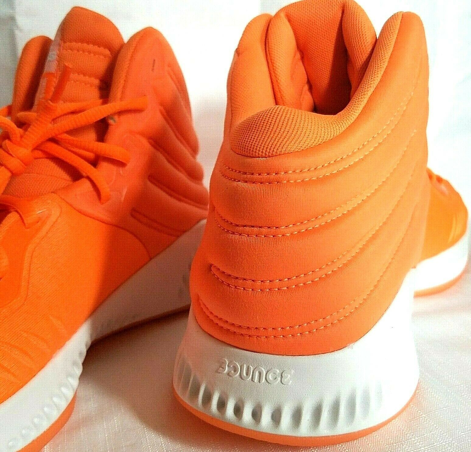 adidas SM Mad Bounce Mens 12.5 D97371 Basketball Shoes Orange & White 2018 image 4