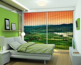 3D Dusk Sky Grassland 022 Blockout Photo Curtain Print Curtains Drapes U... - $177.64+