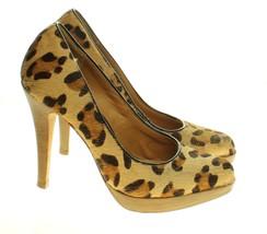 Steven By Steve Madden Womens Tan Leopard Calf Hair Platform Pump Heels ... - €16,92 EUR