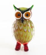 Murano Glass Figurine, Owl Glass Sculpture, Venetian Style Glass, Beauti... - $119.00