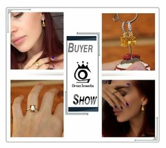 OrsaJewels® Luxury Zircon Ring Earring Set With 4 Carat Cut Yellow image 6