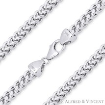 4.2mm Franco Lightweight Italian Chain Necklace in 925 Sterling Silver w Rhodium - $137.01+