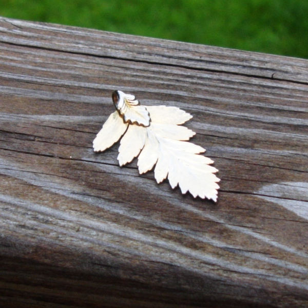 Real Leaf Pendant, Fern Leaf Preserved and Dipped in 24K Yellow Gold