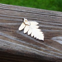 Real fern leaf dipped in 24k yellow gold pendant6 thumb200