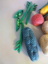 Longaberger Vegetable Sleigh Basket 1995  - Hand sewn vegetables image 5