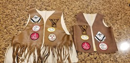 Vintage Native American Indian Camp Guide Vests 1977 - $175.95