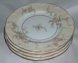 "4 Lot Theodore Haviland New York NY 6 3/8"" ROSALINDE Dessert Plates Dishes USA - $74.44"