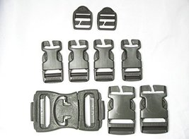 NEW 16 PC Buckle SET Military US Army Molle ACU Grey Foliage Green Quick Release - $19.55