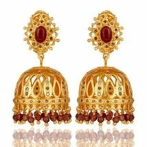8.96 Ct. Pink Tourmaline Gemstone 18K Gold Plated Silver Wedding Earrings - $363.33