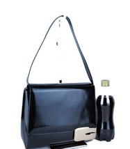 Auth GUCCI Logos Black Patent Leather Shoulder Bag Purse Italy 001.3444.... - $147.51