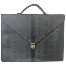 Vintage MCM black monogram briefcase, business bag, document purse with ... - $412.00