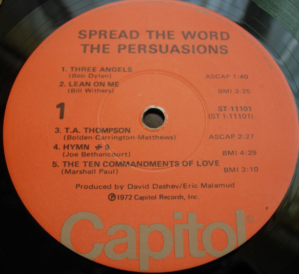 The Persuasions - Spread the Word - Capitol Records ST 11101