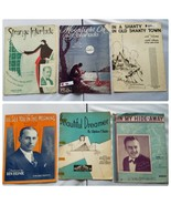Vintage Sheet Music 1930s Lot Of 6 Songs - $20.70