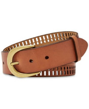 Fossil Womens Claire Emboss and Perforated Belt Tan S - $30.08