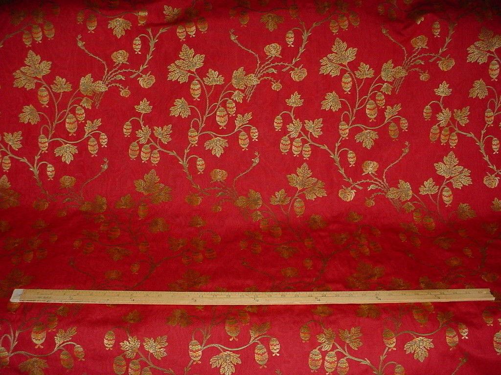 1Y BEAUTIFUL KRAVET LEE JOFA LANTERN FLORAL VINE BROCADE UPHOLSTERY FABRIC image 3