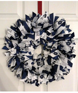 "New York YANKEES 16"" Ribbon Wreath Custom Made For Each  Fan - $50.00"