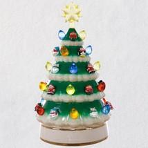 "2018 Hallmark Mini Porcelain Tabletop Tree With Light, 10"" - $15.83"