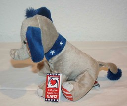 NWT GANZ Elephant H11969 Gray Blue NEW Stuffed Patriotic / Stars and Stripes image 2