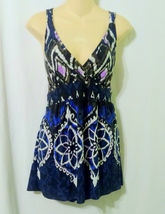 INC Batik Print Knit Racer Back Sleeveless Top Size Large - $12.00