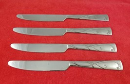 """4 Dinner Knives ~ Blossom Frost by International Home Stainless Flatware 9 1/2"""" - $18.80"""