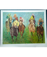 Barbara Lainere The Horsemen Signed Art Proof Lithograph Print Horse Racing - $50.00