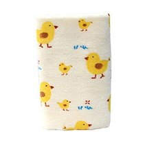 Set of 2 Cute Yellow Duck Soft Cotton Baby Washcloths Portable Facecloths/Towels