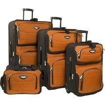 Rolling Luggage Set Expandable Travel 4 Piece World Traveler Suitcase Carry Bags - $149.95