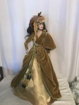 "Pre-owned 22"" Tall Beautiful Franklin Heirloom Scarlett O'Hara Porcelain... - $130.89"