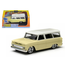 1966 Chevrolet Suburban Yellow 1/43 Diecast Car Model by Greenlight 86058 - $26.54