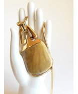 Crown Trifari Modernist Pendant Serpentine Snake Chain Necklace Marbleized  - $17.95