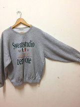 Vintage Sweat studio big logo sweatshirt zero one sports jumper streetwear - $40.00