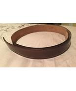 Salvatore Ferragamo belt Strap Sz 32 Brown (strap Only) Free Shipping!! - $74.14