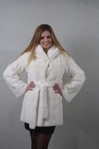 Pearl  Mink fur coat Full Skin  Hooded - $1,880.01