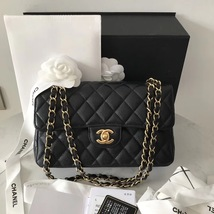 NEW AUTHENTIC CHANEL 2018 BLACK CAVIAR SMALL DOUBLE FLAP BAG GHW RARE - $5,799.99