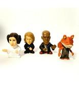 4 Burger King Star Wars Toys Figures Leia Anakin Mace Windu Jar Jar - $12.38