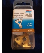 Stanley National Brass Premium picture hanger 75lbs New V2532 - $3.91