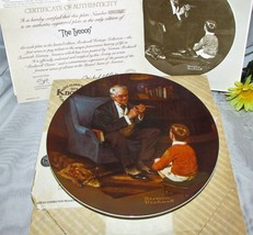 """Norman Rockwell The Tycoon Collector Plate Knowles Limited Edition 8 3/4"""" - $12.97"""