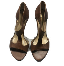 """Kate Spade New York Brown Leather Sandals Heels 3""""  Size 6.5B Italy - $32.71"""