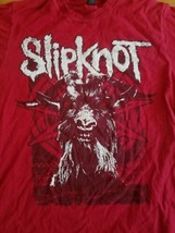 Slipknot Iowa Red Goathead T Shirt Short Sleeve Men's Size M Cotton - $14.01