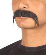 Men's Fu Manchu Style Moustache Set Black Cosplay Facial Hair M-1165 - £13.16 GBP