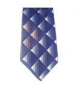 J. Blades & Co Monterey Bay Tie Black Brown Gray Geometric Blocks Silk USA - $16.35