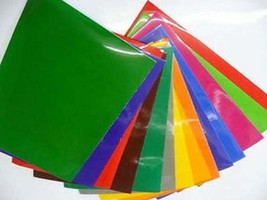 pack of 10 a4 size vinyl sheets, ideal for cutters, silloettte, curio .can be ha