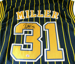 REGGIE MILLER / HALL OF FAME / AUTOGRAPHED INDIANA PACERS THROWBACK JERSEY / COA image 3