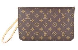 Authentic LOUIS VUITTON Pochette for Neverfull Monogram Hand Bag #35172 - $465.00