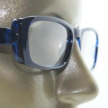 Reading Glasses Chunky Bold Full Rich Sapphire Blue Square Frame +2.50 Lens - $22.00